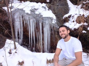 Not a state sign - I get that. But A) Mark looks SO handsome and B) Look at the size of those icicles!