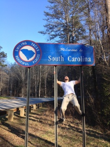 I am going to Hulk Smash this sign, after you take the picture of course! Welcome to South Carolina!