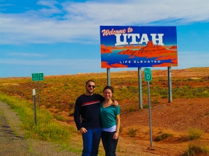 Nearly a mile up, we made sure to drive across the state border so we can honestly say we drove in Utah.