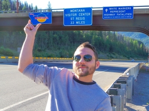 Such a tiny little sign for such a large state!