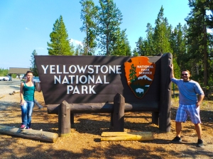 BONUS: Yellowstone National Park sign.