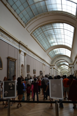 Entrance to the Mona Lisa. On especially crowded days the line begins back here.