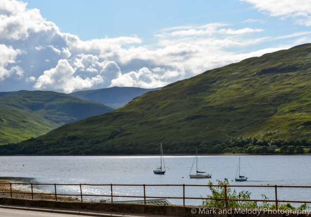 Fort William, where you want to stay if you're to explore all of Glen Nevis
