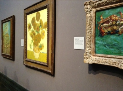 Van Goh's Most Famous: Chair, Sunflowers and Two Crabs