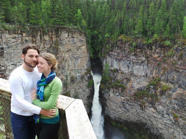 Enjoying Helmcken Falls