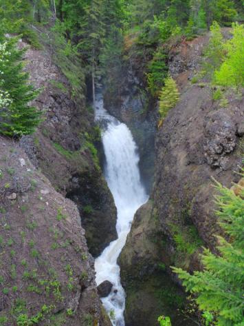 Fage Creek - Entering Wells Grey Provincial Park