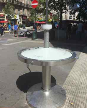Free drinking water in middle of square