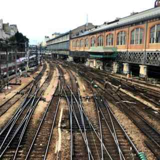 Looks abandoned, but very much in use. All rails lead to Paris.