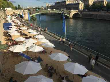 Even landlocked capitals need beaches, so Paris creates them right on the River Seine
