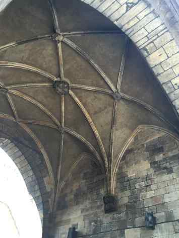Underside of the old fortification tower