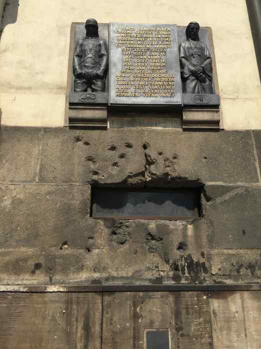 Bullet holes from the Nazis