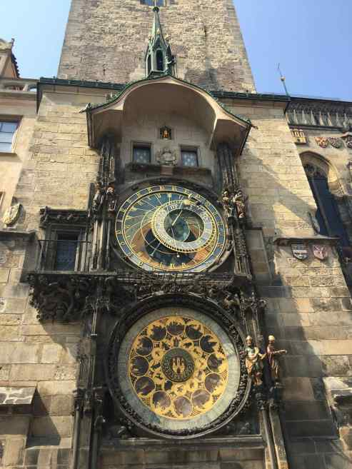 Vintage Astronomical clock with name dates