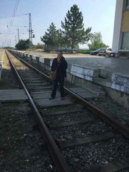 Walk across the tracks. Totally normal.