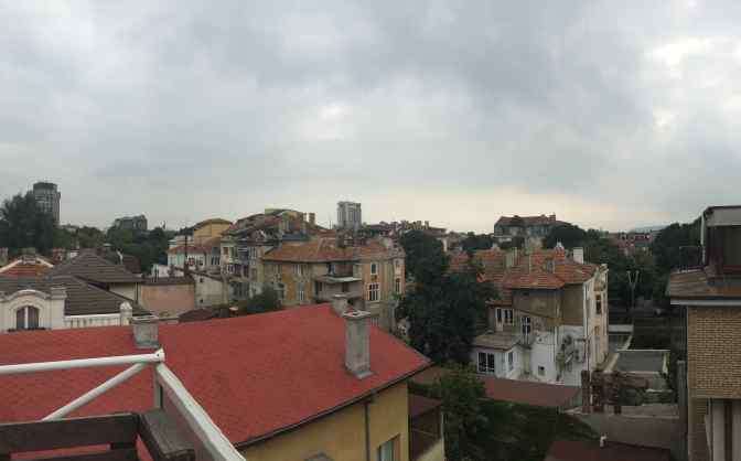 View from our hostel in Varna