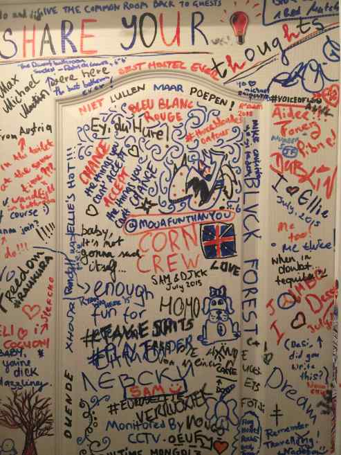 Graffiti in the WC at the hostel