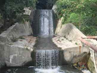 Hidden waterfall in Varna