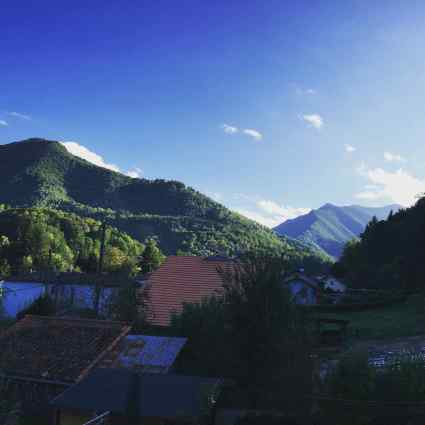 View from our BNB in Seix (pronounced s-e-x)