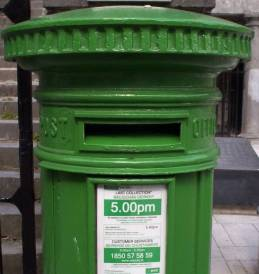 Though the post office signs are small, the mail drops are really hard to miss. Daily collection varies from 4:00 to 5:30pm.