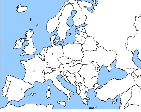 All the countries on the euro